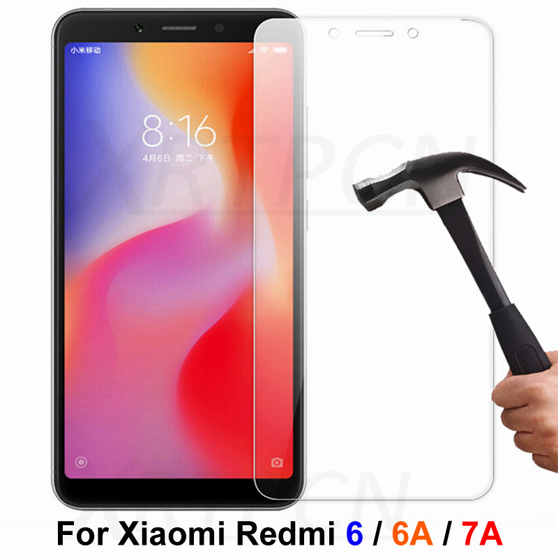 9H Tempered Glass For Xiaomi Redmi 6A 7A Glass On The Redmi 6 Full Cover Screen Protector Redmi 6 A Phone Protective Safety Film