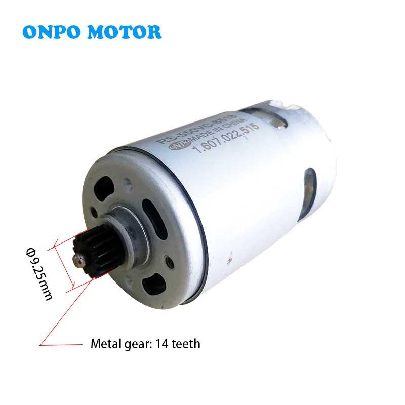 Onpo 10.8 v 14 dentes RS-550VC-8518 dc motor para substituir dewalt dcd710 elétrica broca cordéis chave de fenda peças reposição manutenção