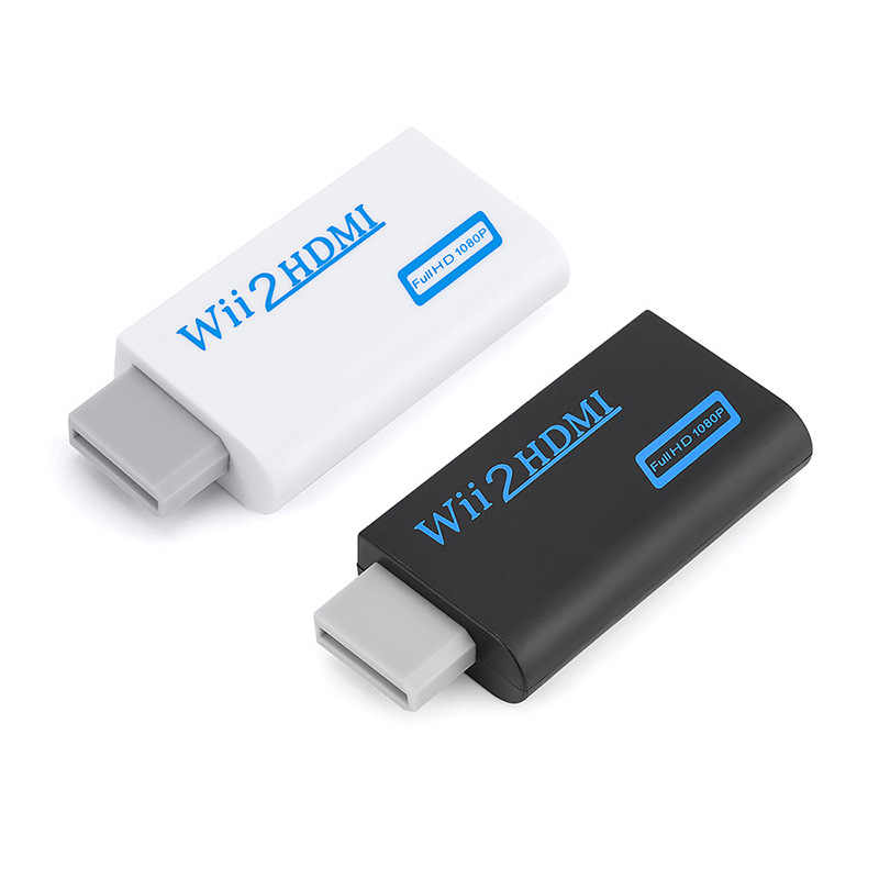 Hot Koop Voor Wii naar HDMI Converter Adapter Full HD 1080P Wii Wii2HDMI Converter 3.5mm Audio voor PC HDTV Monitor