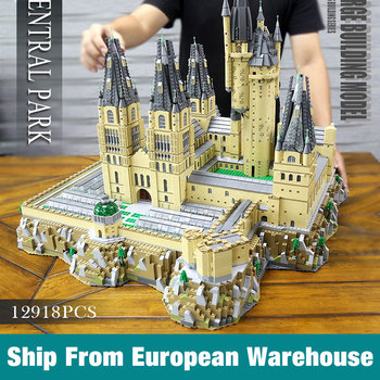 Yeshin 16060 Movie Castle Magic School of Witchcraft and Wizardry Model Building Blocks Kid Christmas Gift image
