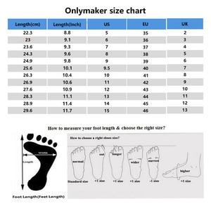Image 5 - Onlymaker Vrouwen Ronde Neus Platform Enkellaarsjes Dikke Hoge Hak Plus Size Zwarte Dames Laarzen