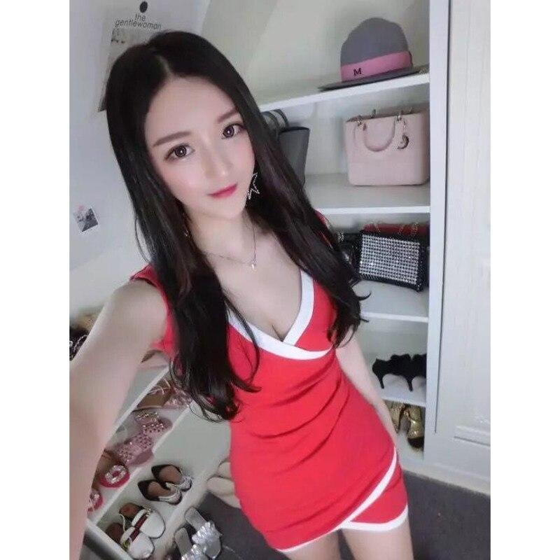 Новинка, летняя одежда для ночного клуба, женский сексуальный облегающий жилет с V-образным вырезом