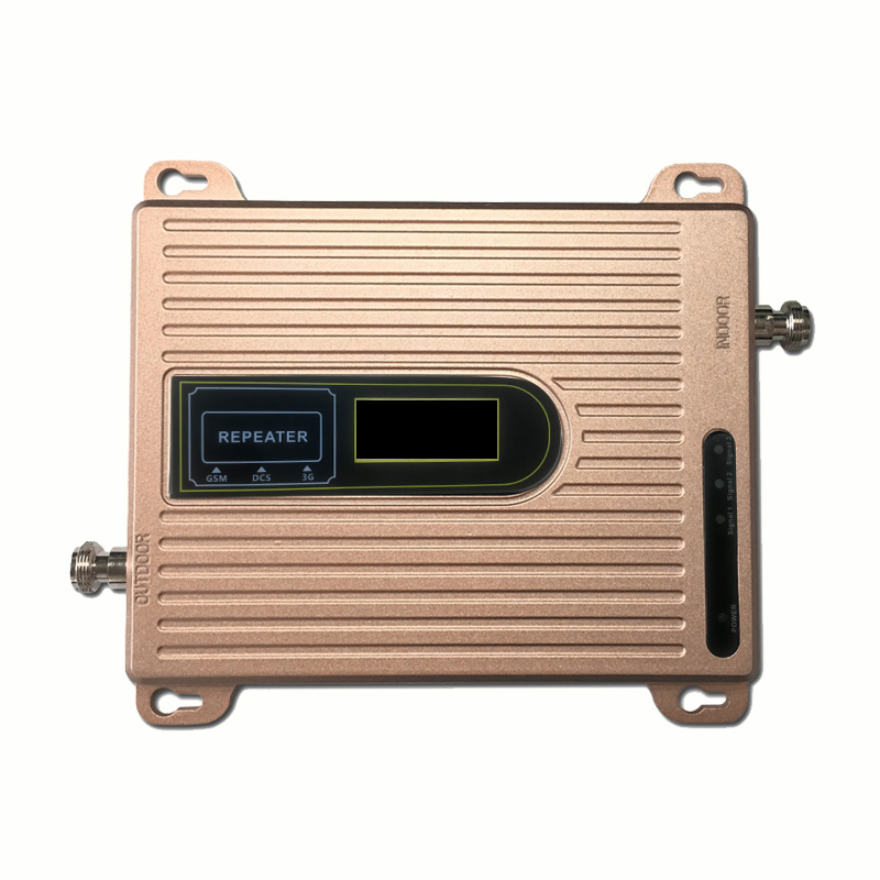 2G 3G 4G Triple Band Signal Booster GSM 900 DCS LTE 1800 FDD LTE 2600 Mobile Phone Signal Repeater Cell Phone Cellular Amplifier