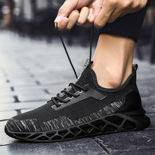 Fly Woven Breathable Men Sports Running Shoes Sneakers SF