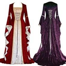 Новое средневековое платье, костюмы на Хэллоуин для женщин, косплей дворцовый благородный длинный халат, древний колокол, рукав, костюм принцессы, платье