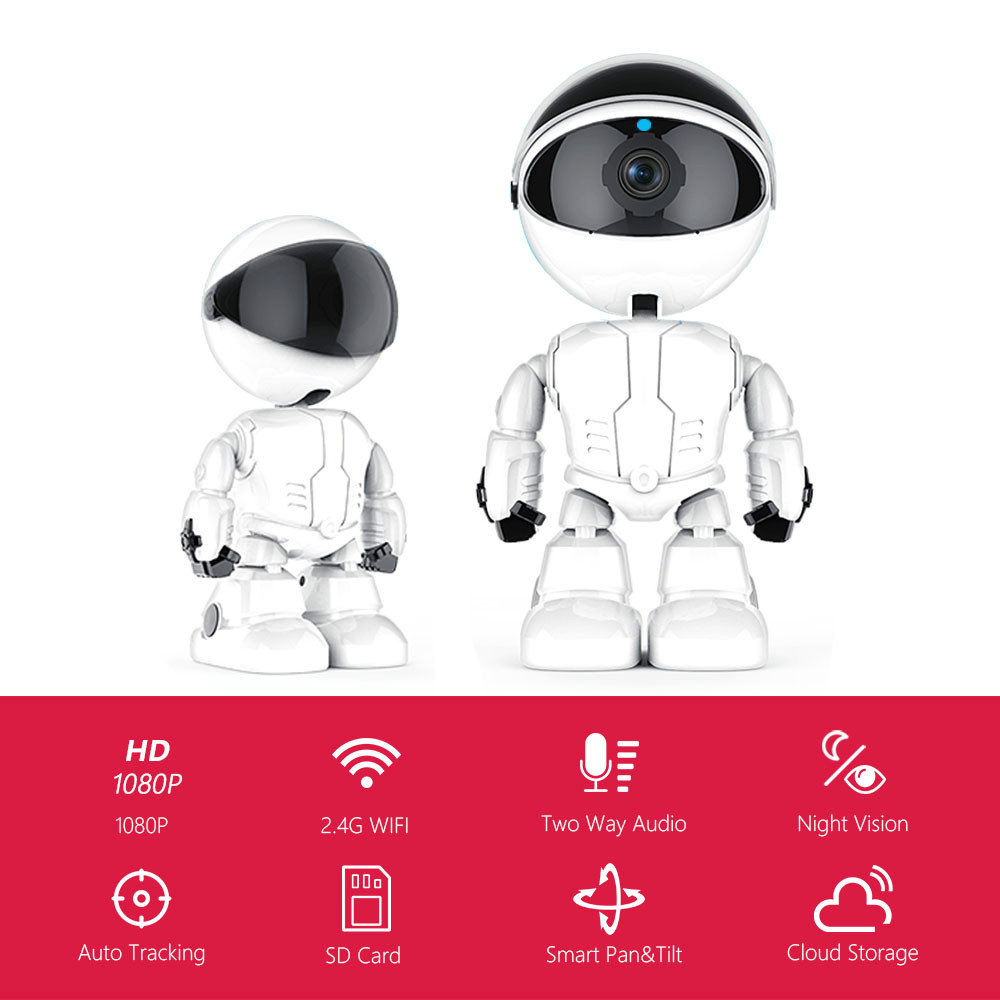 Wireless Security Camera 1080p WiFi IP Camera for Home Security Camera Pan/Tilt/Zoom Baby Monitor Pet Camera with Two-Way Audio
