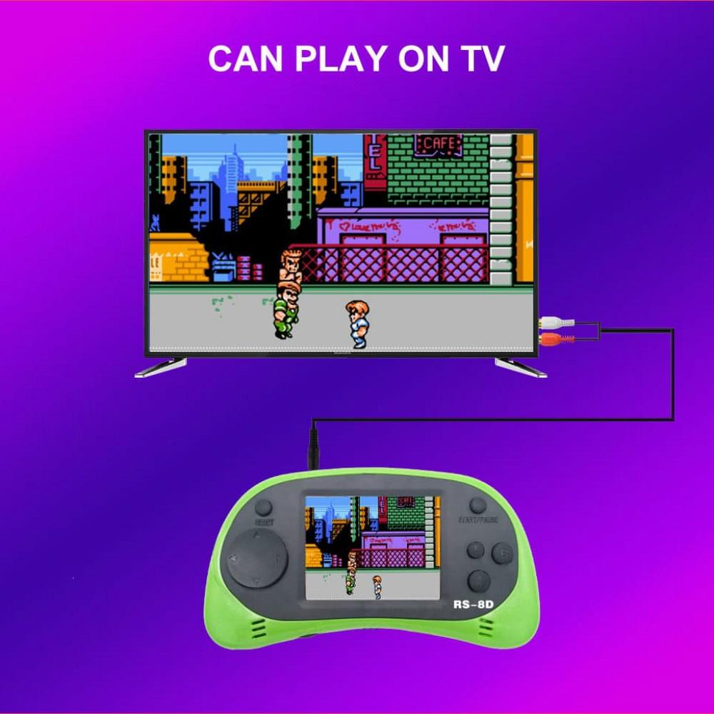 RS-8D Video Game Console 8 Bit 2.5 Inch Built-in 260 Classic Games Retro Fc Handheld TV Portable Nostalgic Kid Children Family