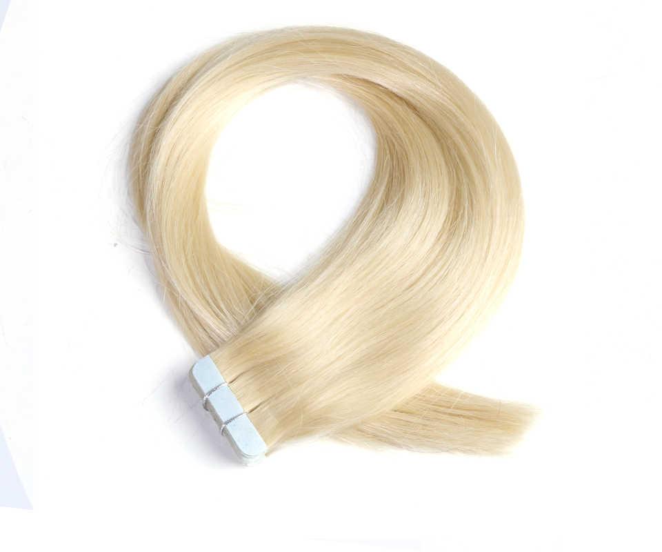 QHP Hair Remy doczepy z ludzkich włosów 2g/stojak 20 sztuk/paczka taśma w skórze włosów wątek