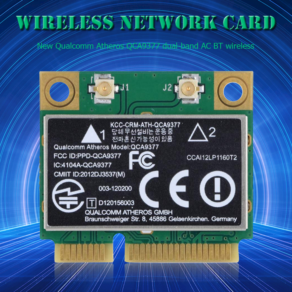 WIFI Card Atheros QCA9377 Wireless Dual Band 433Mbps WLAN 802.11ac 2.4G/5G Bluetooth 4.1 Mini PCI-E Network Adapter AW-CM251HMB 4