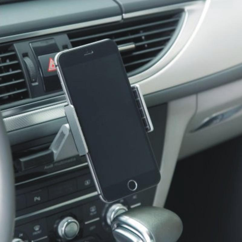 For 3.5-6.0 Inch Phone Car GPS Navigation Holder CD Slot Aluminium Mobile Mount Cradle Stand For iPhone Huawei Xiaomi Samsung