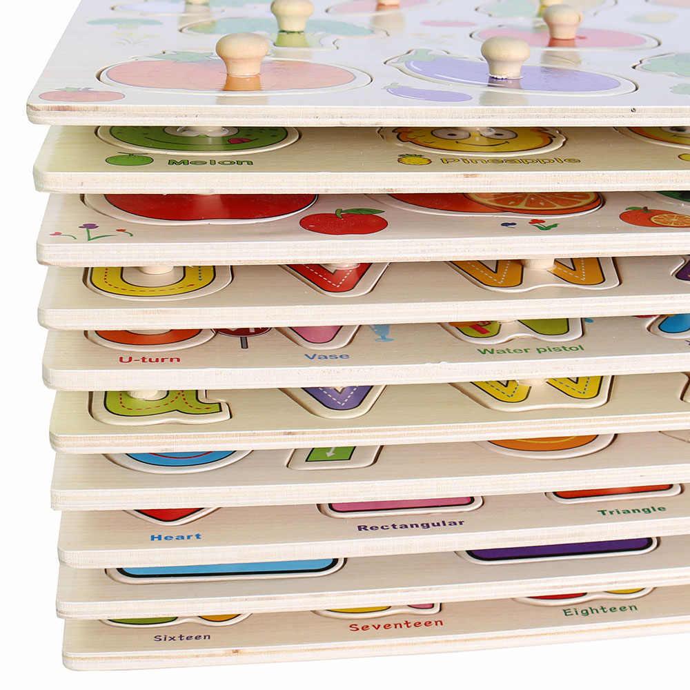 Hot Cho Bé Đồ Chơi Học Tập Cho Trẻ Em Montessori Tay Lấy Ban Đầu Giáo Dục Đồ Chơi Hoạt Hình Xe/Động Vật Đồ Chơi Xếp Hình Bằng Gỗ Trẻ Em