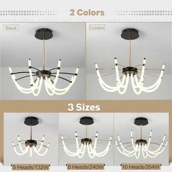 World premiere Led Chandelier lighting Soft silicone 2000lumen Energy saving modern Chandelier lights for living room decoration