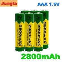 Lot de 2-20 piles alcalines 2800 MAH, 1.5 V, rechargeables, AAA, pour télécommande, jouet, lumière