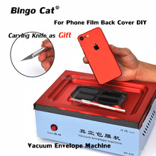 Mobile Phone Vacuum Envelope Machine Automatic Vacuum Back Cover Film Coating Machine for IPhone SAMSUNG HUAWEI And Tablet