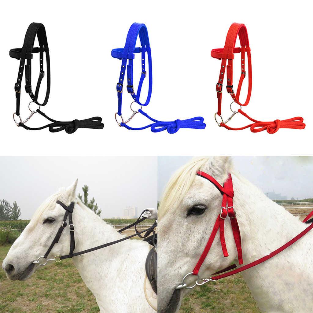 3X Bền 20 Mm Cưới Ngựa Dây Cương Có Thể Điều Chỉnh Dây Headstall Dây
