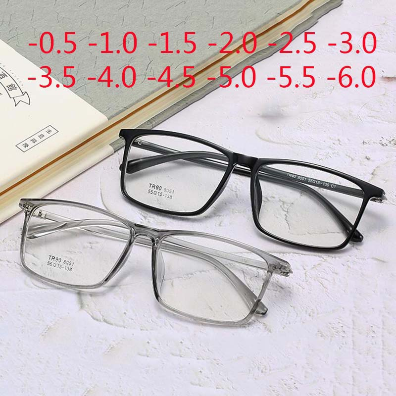 Big Frame Square Prescription Eyeglasses Vintage Optical Myopia <font><b>Glasses</b></font> -0.<font><b>5</b></font> -<font><b>1</b></font> -<font><b>1</b></font>.<font><b>5</b></font> -2 -2.<font><b>5</b></font> -3 -3.<font><b>5</b></font> -4 -4.<font><b>5</b></font> -<font><b>5</b></font> -6 image