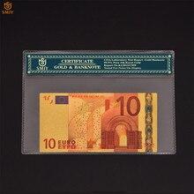 Billetes de oro europeo de 10 colores, papel de aluminio dorado, colección de dinero, Patriot, regalo de recuerdo
