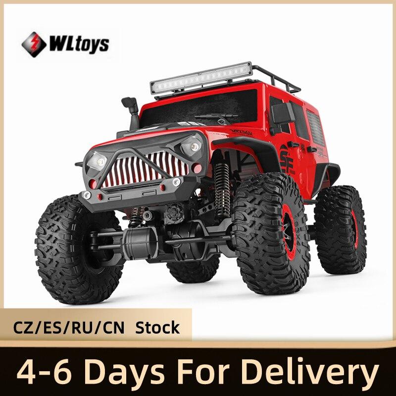 WLtoys 104311 Jeep 1/10 Супер Большой Гусеничный Радиоуправляемый автомобиль 104311 2,4G полноприводный автомобиль внедорожник с матовым мотором и диста...