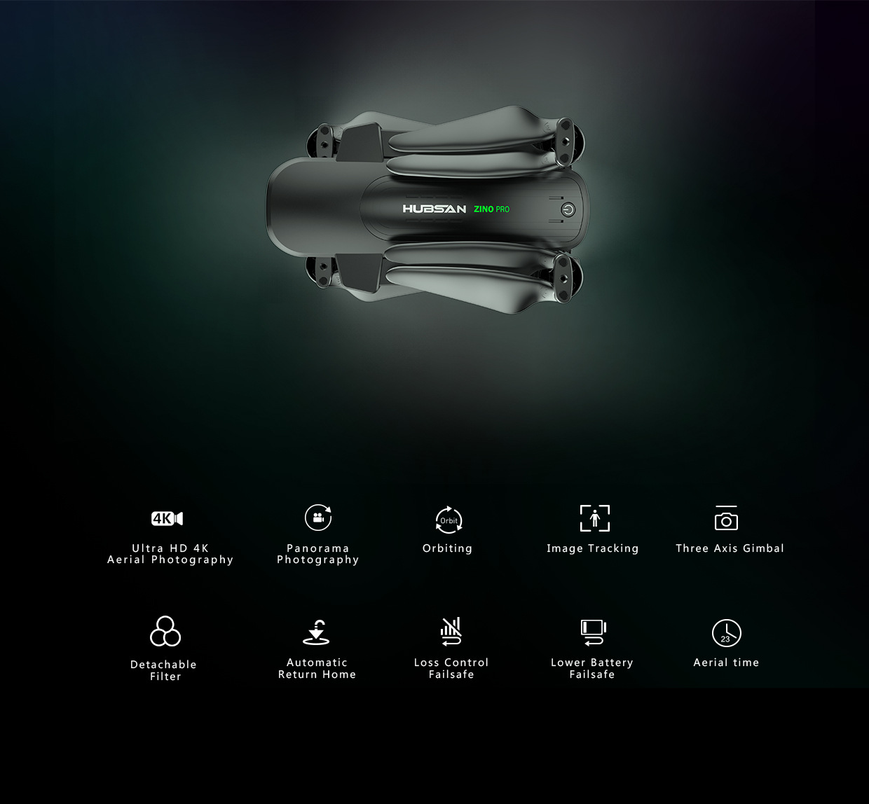 HUBSAN Zinopro Brushless 4K High-definition Camera Double Star Gps Positioning Around Waypoints Ray Flight Unmanned Aerial Vehic
