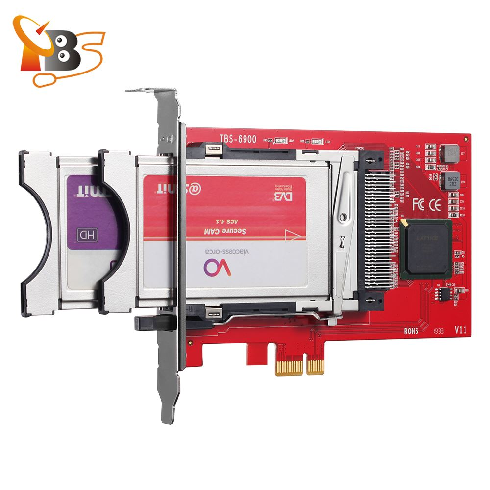 TBS6900 DVB Dual CI PCI-E Network Card With Software TBSREMUX