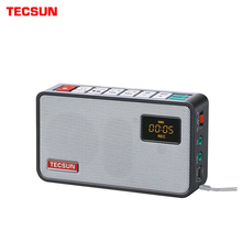 TECSUN ICR 100 مكبر صوت صغير مسجل مشغل MP3 راديو FM 76 108 مع 16G ماكس ذاكرة TF بطاقة شحن مجاني