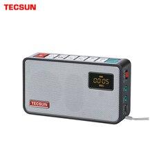 TECSUN ICR 100 Mini Loa Đầu Ghi MP3 Nghe Đài Phát Thanh FM 76 108 Với 16G Bộ Nhớ Tối Đa thẻ TF miễn phí Vận Chuyển