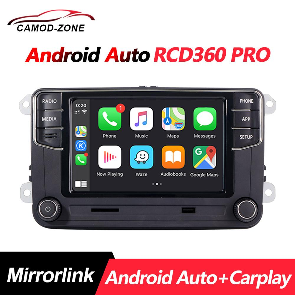 NEW RCD330 187B MIB Radio RCD360 PRO NONAME Android Auto Carplay  For VW Golf 5 6 Jetta MK5 MK6 Tiguan CC Polo Passat 6RD035187B