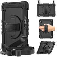 Correa de mano de rotación 360 y Funda para tableta, cubierta protectora de silicona para Huawei Mediapad T5