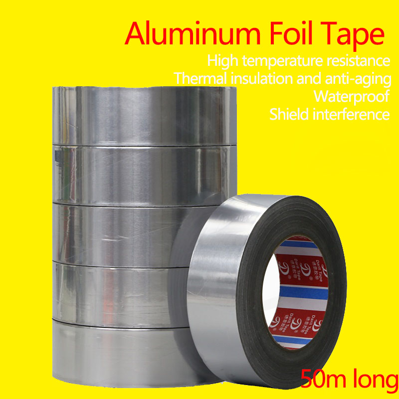 Aluminum Foil Tape Butyl Rubber Tape Self Adhesive HighTemperature Resistance Sealing Waterproof Self-Adhesive Aluminum FoilTape