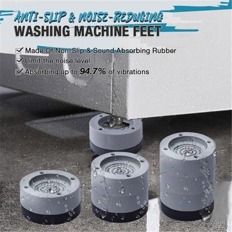 4Pcs Anti Vibration Feet Pads Washing Machine Rubber Mat Anti-Vibration Pad Dryer Universal Fixed No