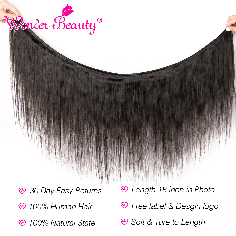 Image 2 - Straight Hair Malaysian Hair Bundles Wonder Beauty Hair Human Hair Bundles Remy Hair Extension Can Buy 3 Or 4Pcs Natural Black-in Hair Weaves from Hair Extensions & Wigs