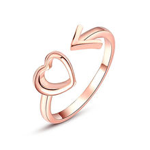Golden Hollow Out Beautiful Silver Wedding Couples Heart 1PC Ring Bride Accessories Valentines Gift