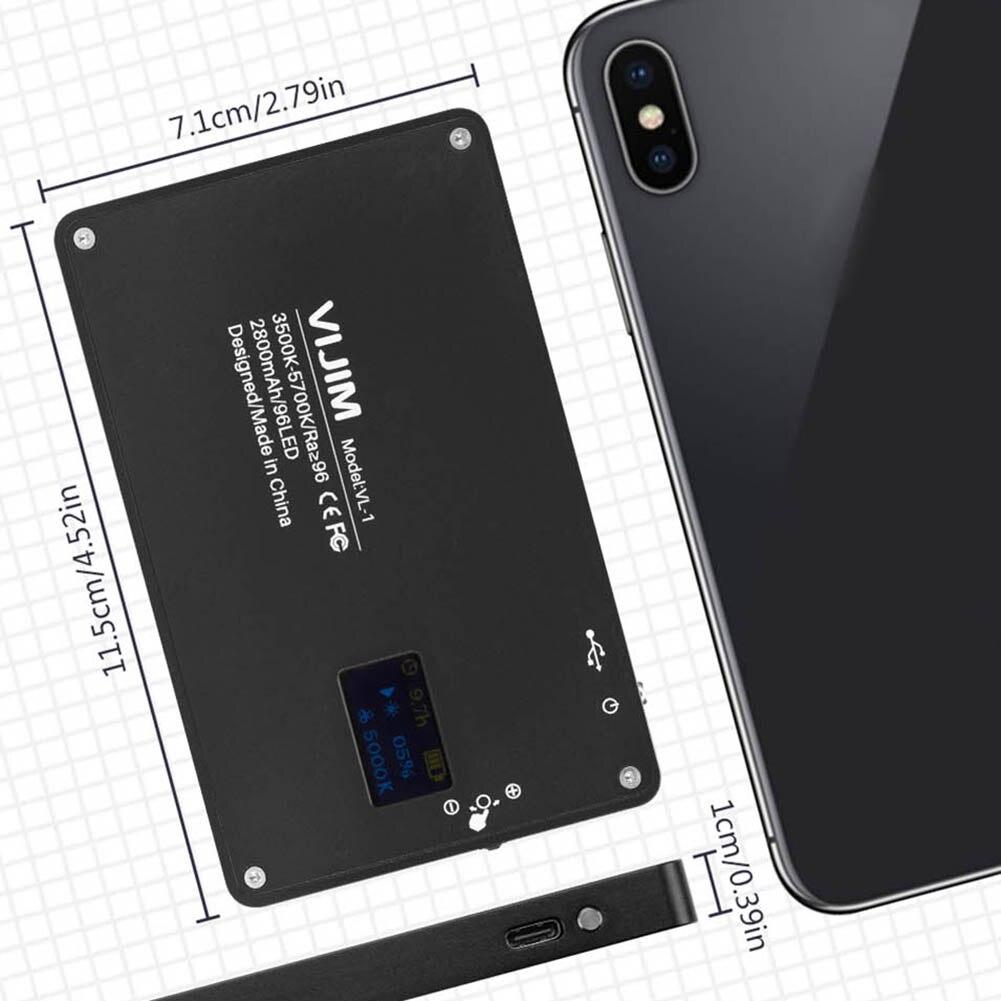 Mini téléphone lumière LED O LED écran 96 perles magnétique en alliage d'aluminium lampe Portable pour Selfie OD889