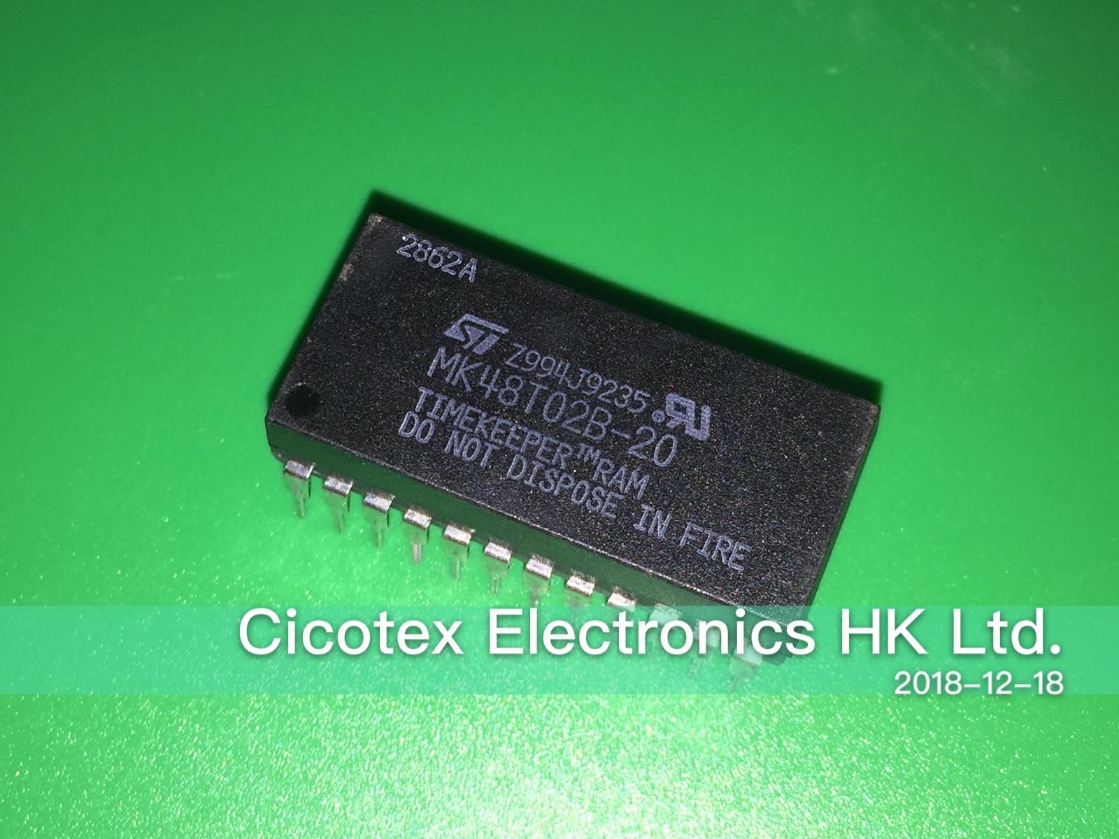 MK48T02B-20 DIP-24 CMOS 2K x 8 TIMEKEEPER SRAM MK48T02B20 MK48T028-20