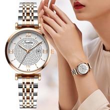 Sunkta damen uhr top marke luxus casual mode uhr damen Voller stahl wasserdichte uhr quarz Armbanduhr Relogio Feminin