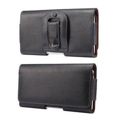 Мобильный телефон поясная сумка 4,7-6,9 дюймов для iPhone, Samsung, Xiaomi, Huawei, мешочек чехол с клипсой для ремня PU кожаный чехол-сумочка с отделением для...