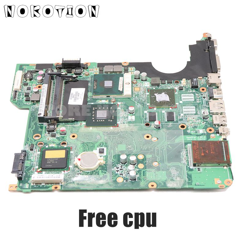 NOKOTION 504640-001 482867-001 Main Board For HP Pavilion DV5 DV5-1000 Laptop Motherboard PM45 DDR2 Free CPU