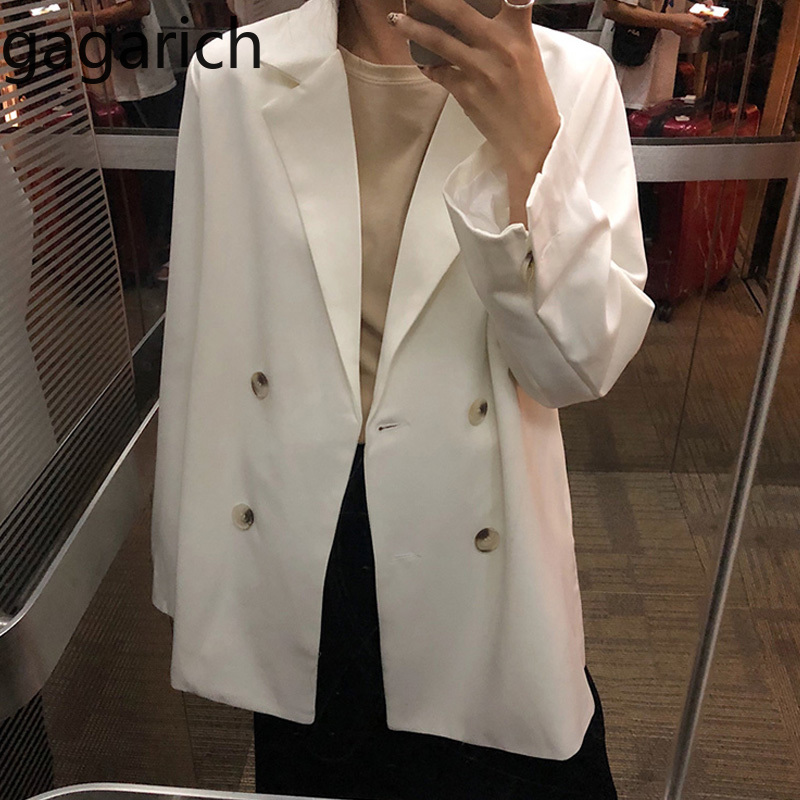 Gagarich Solid Women Blazers 2020 Flavor Chic Vintage Loose Small Coat Female Spring 2020 New Korean Casual Office Lady Tops