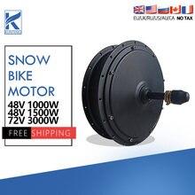 Fett Reifen Fahrrad 48V 1000W 1500W 72V 3000W Schnee Ebike Bürstenlosen Getriebelose Motor Dropout Hinten 170/190mm Schnee EBike Conversion Kit