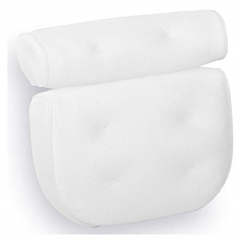 Spa Non-Slip Bath Pillow Cushioned Bath Tub Spa Pillow Bathtub Head Rest Pillow With Suction Cups For Neck Back Bathroom Supply 4