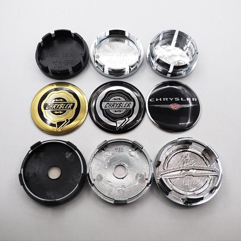 4 шт. 54 мм 56 мм 60 мм 64 мм логотип Chrysler колпачок центральной ступицы колеса Автомобильный обод накладные значки наклейки аксессуары для стайли...