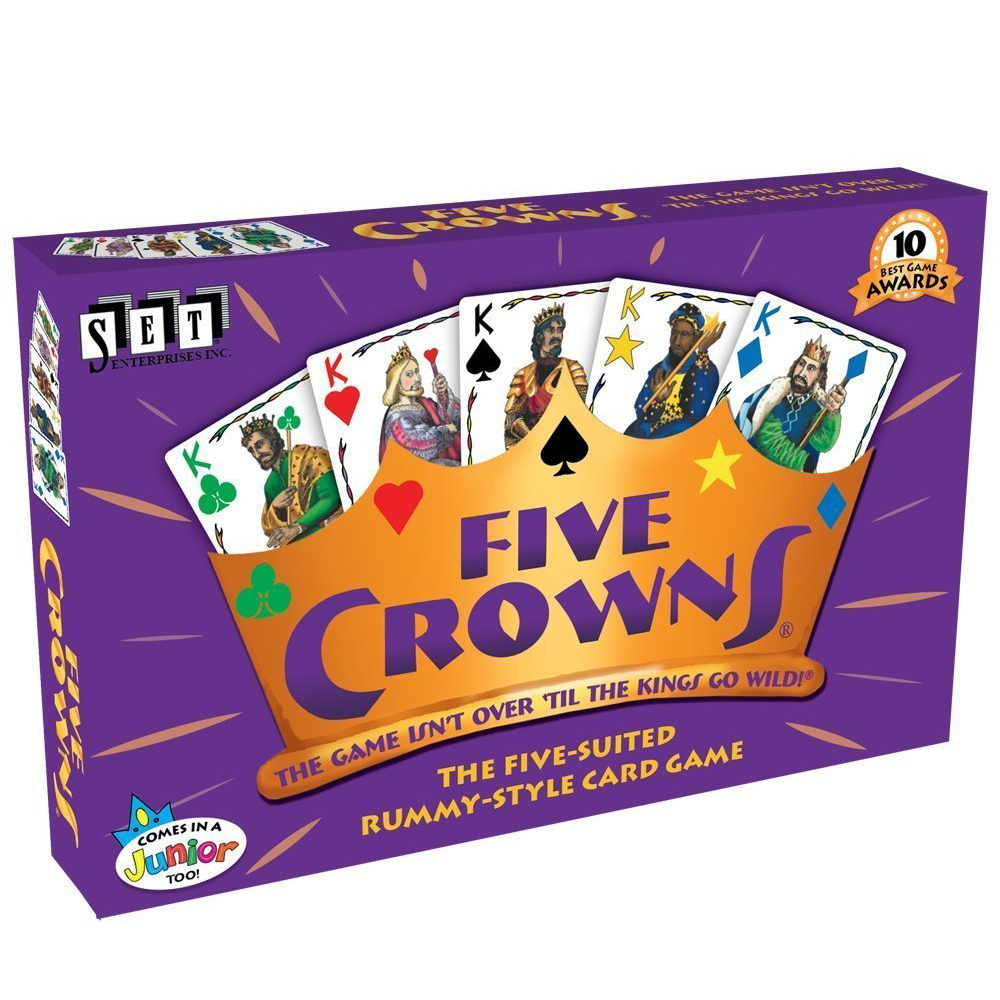 High Cuality Card 5 Five Crowns Cards Game Suited Rummy Style Game With A Rotating Board Games Toy Family Entertainment Party