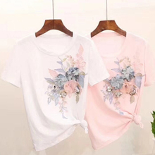Fashion handmade flowers big cloth stickers T-shirt decorative personality diy hat pants clothing accessories Lace Sewing Fabric