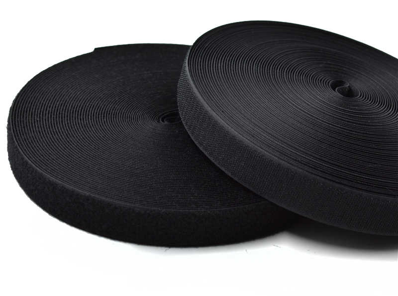 20mm-60mm רוחב שחור לבן הוק/רול-לתפור על קלטת (לא דבק) סיטונאי