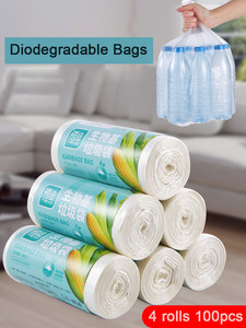 Image 1 - Corn biodegradable household garbage bags classified disposable toilet cleaning kitchen trash bags thicker plastic bags break