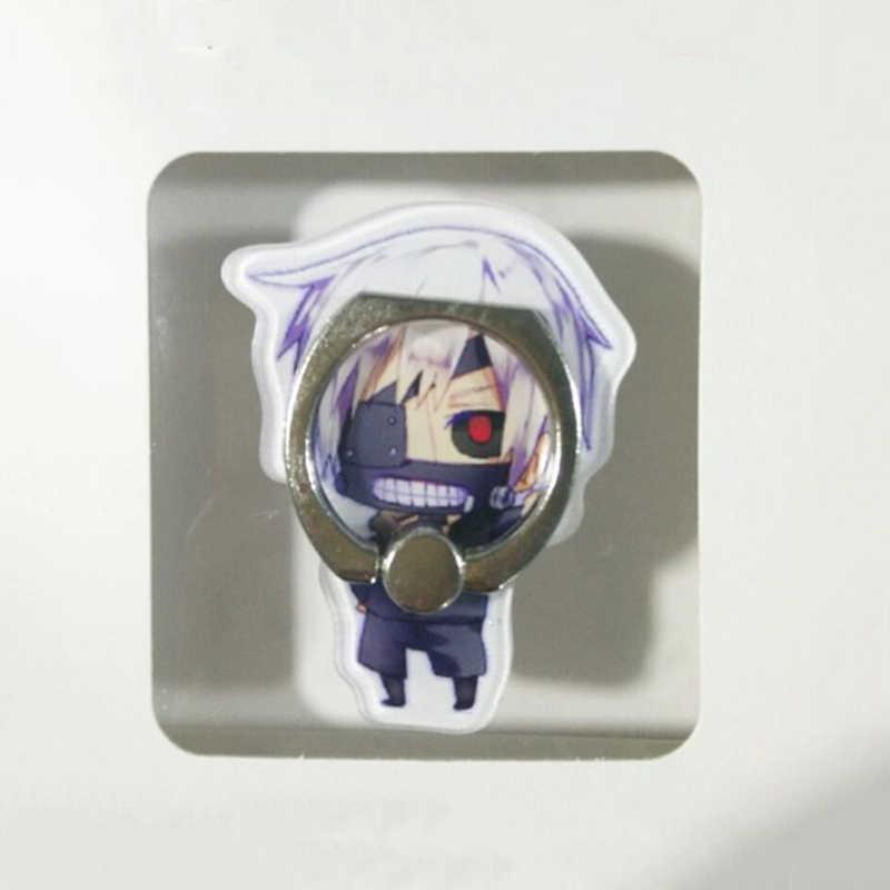 1 PC ใหม่ Universal อะนิเมะ Tokyo Ghoul โทรศัพท์ผู้ถือขาตั้งโทรศัพท์อะคริลิค 360 องศาแหวน Stent แหวนหัวเข็มขัด Action FIGURE ของเล่นของขวัญ