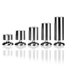 4 stücke Edelstahl Schrank Möbel Bein Schraube Runde Sofa Metall Tisch Beine Einstellbare Höhe für Möbel Fuß Bett Riser