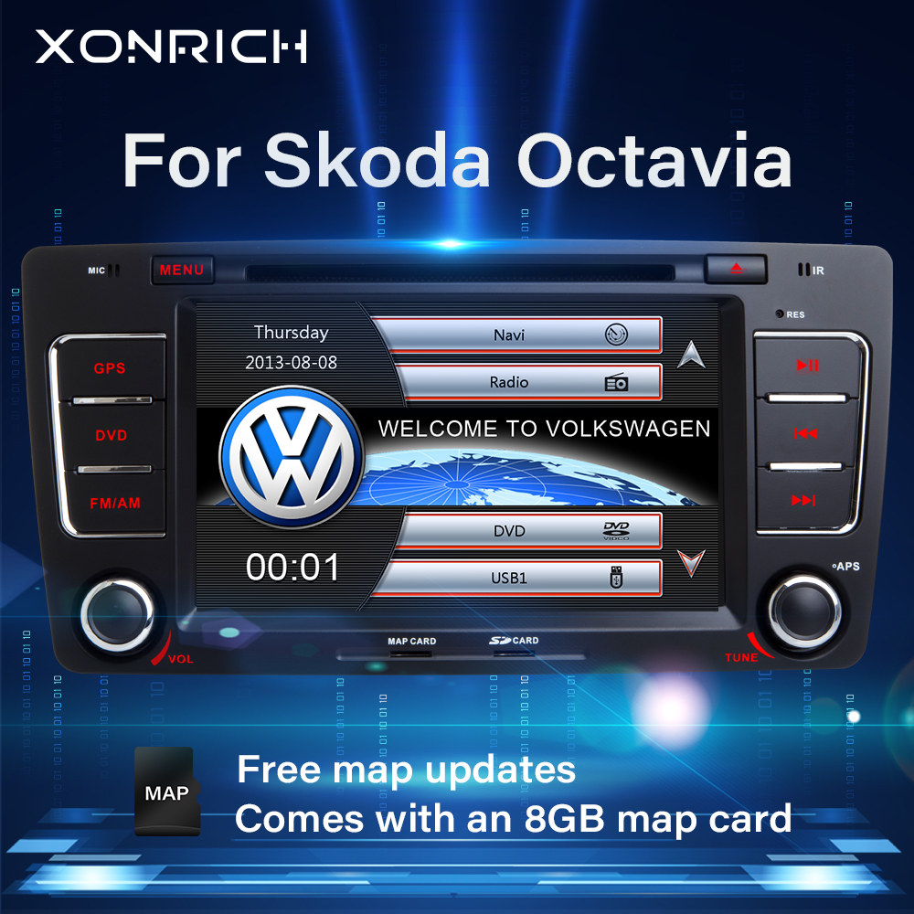 Radio samochodowe 2 Din samochodowy odtwarzacz DVD odtwarzacz dla Skoda Octavia 5 A5 2 3 Yeti 2008 2009 2010 2011 2012 2013 2014 multimedialna nawigacja GPS