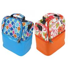 Two Layer New Baby Food Milk Bottle Storage Insulation Bags Waterproof Lunch Bag Infant Kids Food Warmer Thermal Bag disney milk food storage thermal bag warmer box baby feeding bottle thermal keeps drinks cool backpack mummy bags diaper bags