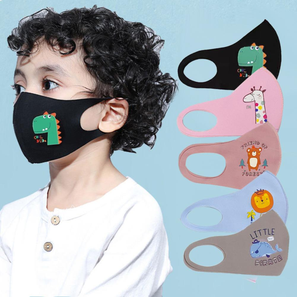 Printed Kids Mouth Mask Washable Cotton Anti Dust Anti Pollution Face Shield Wind Proof Dustproof PM2.5 Mouth Mask